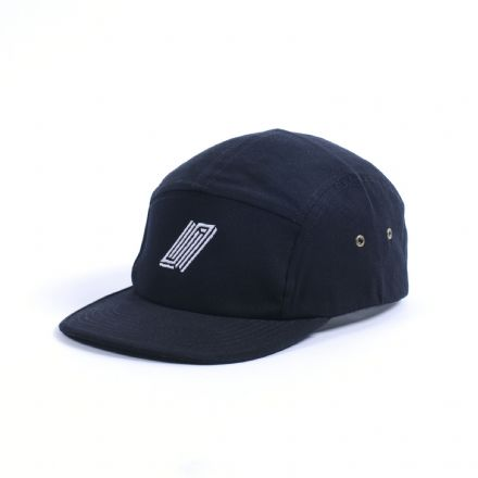 United Embroidered 5 Panel Hat Black